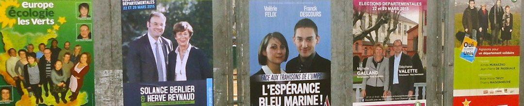 Élections 2015 : affiche électorale la bataille (perdue) de l'image.