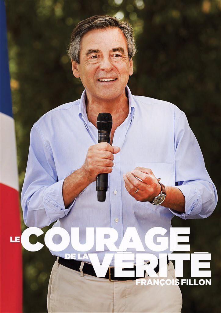 François Fillon 2016 affiche campagne primaires droite et centre