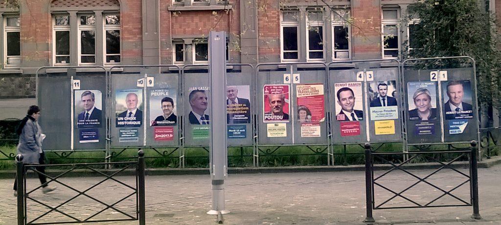 Affiche electorales présidentielles 2017