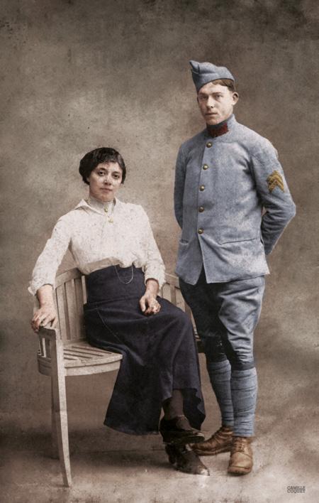 Mon arrière-grand père Jean Baptiste - mort en Octobre 1917 (bataille d'Ypres)